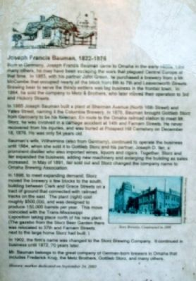 Joseph Francis Bauman Marker Photo, Click for full size