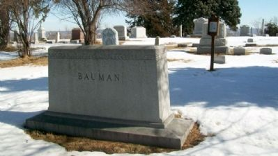 Joseph Francis Bauman Grave Site and Marker Photo, Click for full size