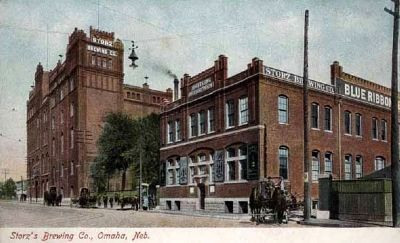 Storz's Brewery Postcard Photo, Click for full size