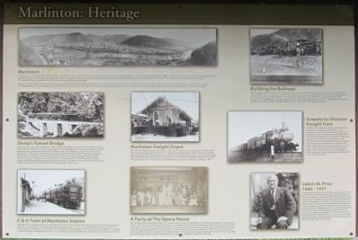 Marlinton: Heritage Marker image. Click for full size.