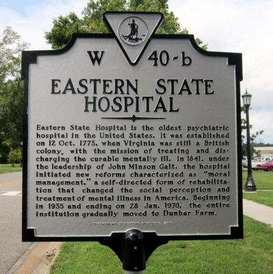 Eastern State Hospital Marker image. Click for full size.