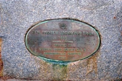 Gen. Andrew Jackson's Trail Marker image. Click for full size.