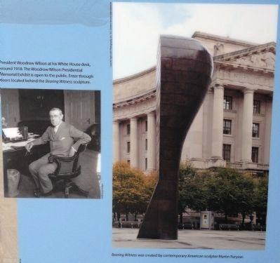 Woodrow Wilson and Bearing Witness Photo, Click for full size