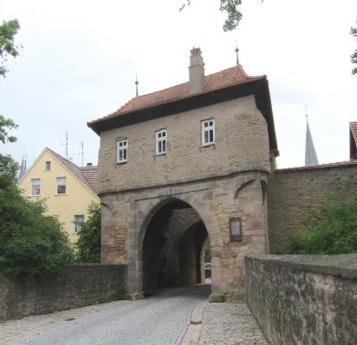 Mainbernheimer Gatehouse and marker - western side image. Click for full size.