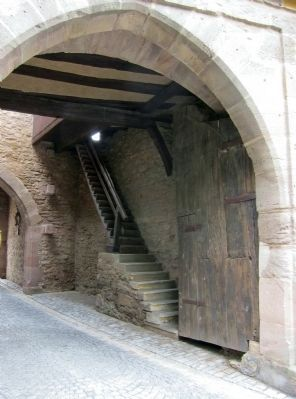 Mainbernheimer Gatehouse interior- stairs to upper level image. Click for full size.
