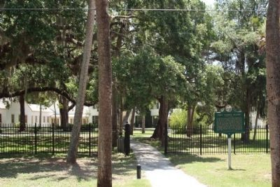 Fort George Island Marker at the Ribault Club Photo, Click for full size