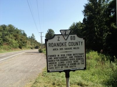 Roanoke County Marker image. Click for full size.