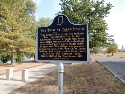 "Side ""One"" - - Wea Tribe at Terre Haute Marker image. Click for full size."
