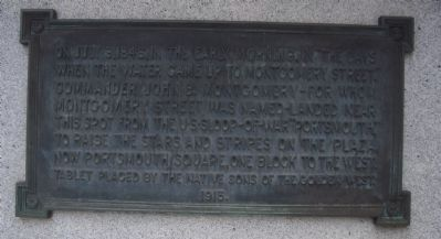 Commander John B. Montgomery's Landing Site Marker Photo, Click for full size