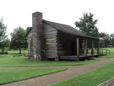 Davy Crockett�s Birth Cabin image. Click for full size.