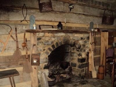 Inside Davy Crockett�s Cabin Photo, Click for full size