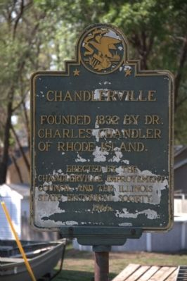 Chandlerville Marker Photo, Click for full size