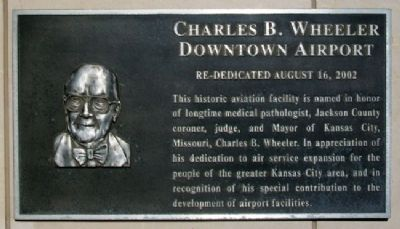 Charles B. Wheeler Downtown Airport Marker image. Click for full size.