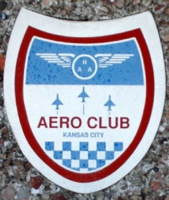 Aero Club of KC Emblem on Holland Marker image. Click for full size.