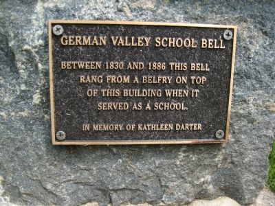German Valley School Bell Marker image. Click for full size.