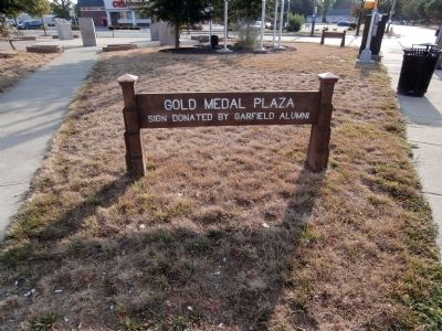 "Sign - - "" Gold Medal Plaza "" image. Click for full size."