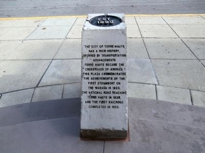 Crossroads Plaza Marker Photo, Click for full size