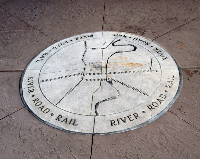 Crossroads Plaza - Floor Marker Photo, Click for full size