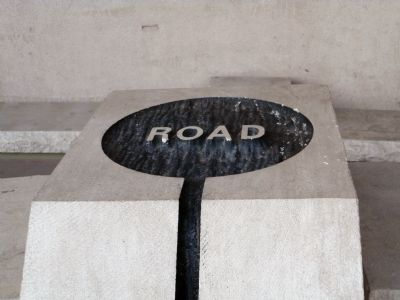 "Crossroads Plaza ""Road"" Marker Photo, Click for full size"