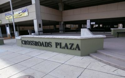 Other View - - Crossroads Plaza Marker Photo, Click for full size