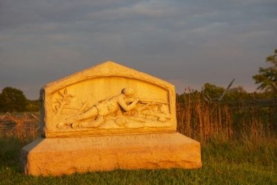 149th Regiment Pennsylvania Volunteers Marker at dusk. image. Click for full size.