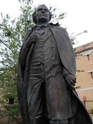 Closeup of Andrew Johnson Statue Photo, Click for full size