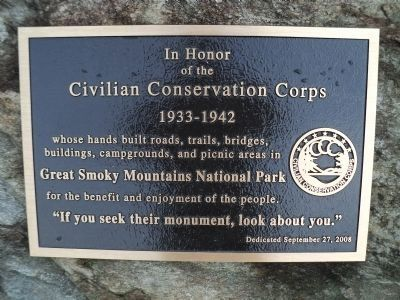 Civilian Conservation Corps Marker Photo, Click for full size