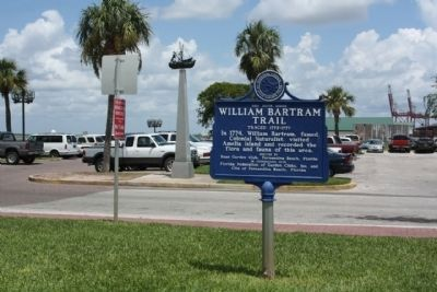 William Bartram Trail Marker, west end of Centre Street at parking lot image. Click for full size.