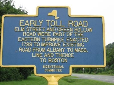 EarlyToll Road (Berlin, NY) Marker image. Click for full size.