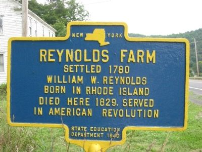 Reynolds Farm Marker Photo, Click for full size