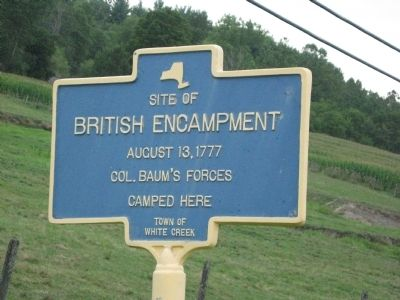 Site of British Encampment Marker Photo, Click for full size