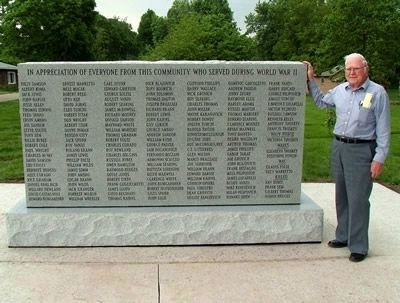Frank Troskey - - Dedication of Universal Honor Roll image. Click for full size.
