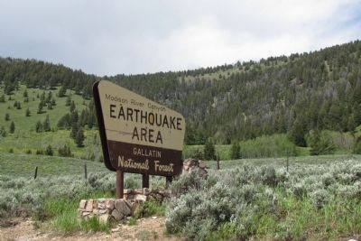 Madison River Canyon Earthquake Area Photo, Click for full size