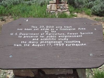 US Forest Service Geological Area Marker Photo, Click for full size