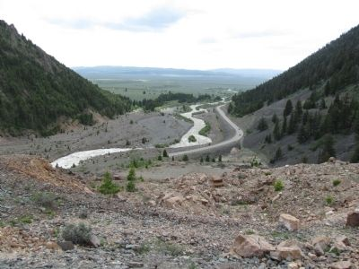 Madison River Canyon Landslide Dam Photo, Click for full size