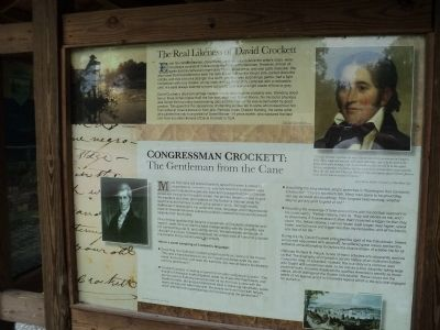 The Real Likeness of David Crockett Marker image. Click for full size.