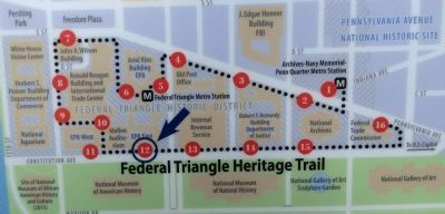 Map of the Federal Triangle Heritage Trail System Photo, Click for full size