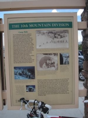 10th Mountain Division Marker Photo, Click for full size