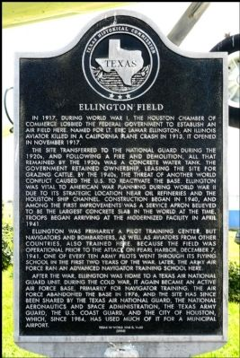 Ellington Field Marker Photo, Click for full size