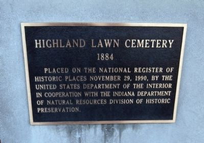Highland Lawn Cemetery Marker image. Click for full size.