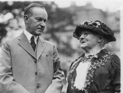 Calvin Coolidge and Mother Jones, 1924 (image courtesy Library of Congress) image. Click for full size.