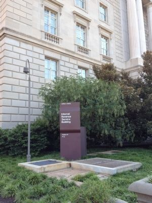 IRS Building Sign image. Click for full size.