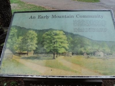 An Early Mountain Community Marker Photo, Click for full size