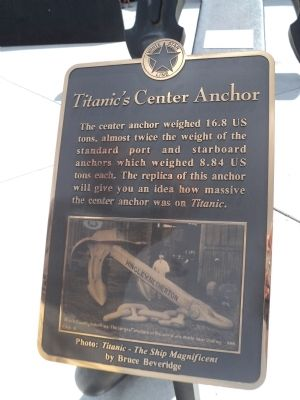 Titanic�s Center Anchor Marker Photo, Click for full size