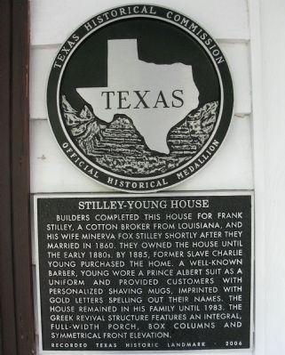 Stilley-Young House Marker image. Click for full size.