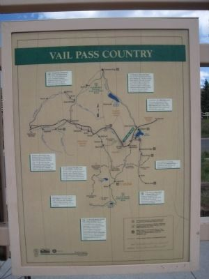 Vail Pass Country Marker image. Click for full size.