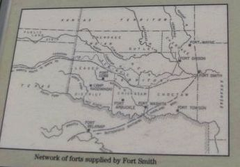 Network of forts supplied by Fort Smith. Photo, Click for full size