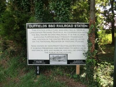 Duffields Depot Raid Marker Photo, Click for full size