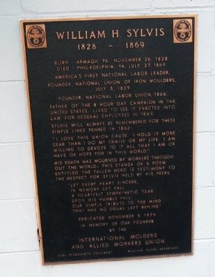 William H. Sylvis Marker Photo, Click for full size