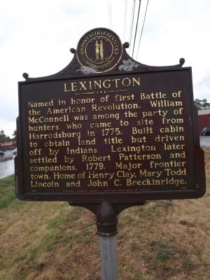 Lexington Marker Photo, Click for full size